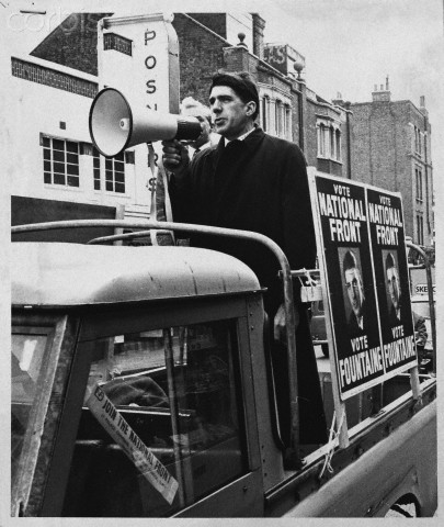 [ca.1965?], London, England, UK --- Acton By Election - National Front Candidate. --- Image by © Hulton-Deutsch Collection/CORBIS
